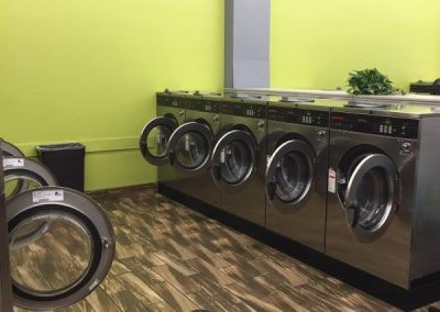 Interior shot of the washing machines at the Colerain location.