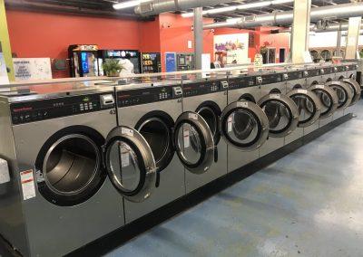 Interior shot of washing machines at the Walnut Hills location.